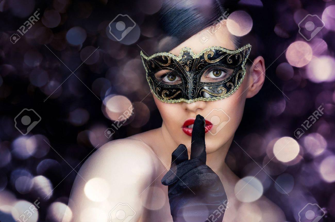 cute girl in masquerade mask Stock Photo - 11713580