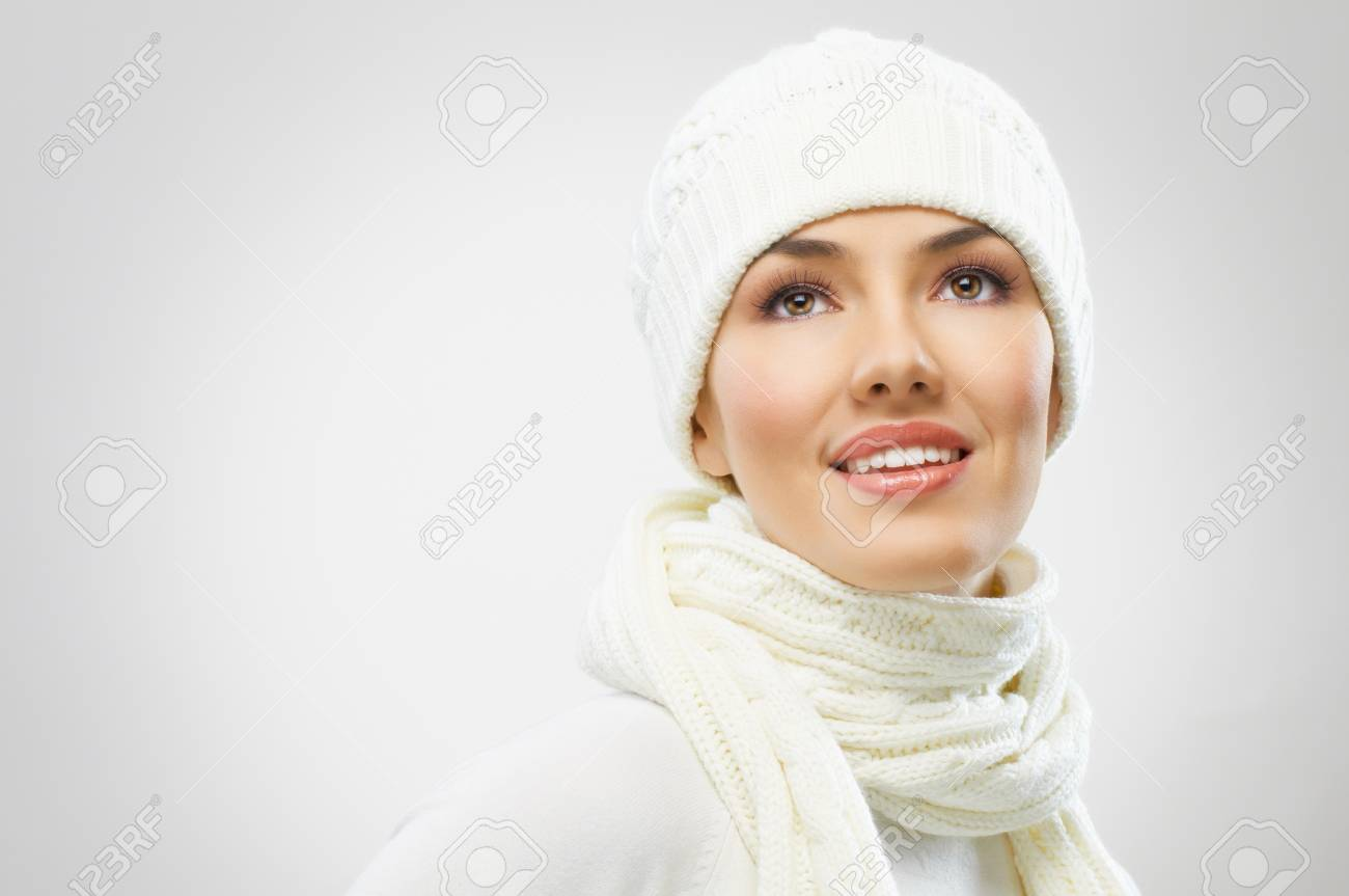 a beauty girl on the grey background Stock Photo - 16304809