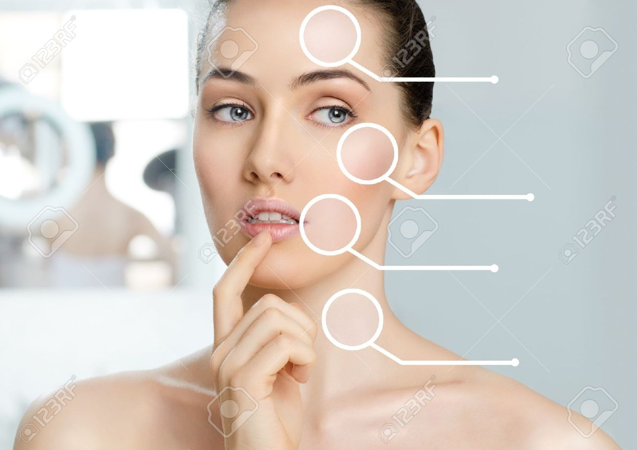 beauty woman on the bathroom background Stock Photo - 18878785