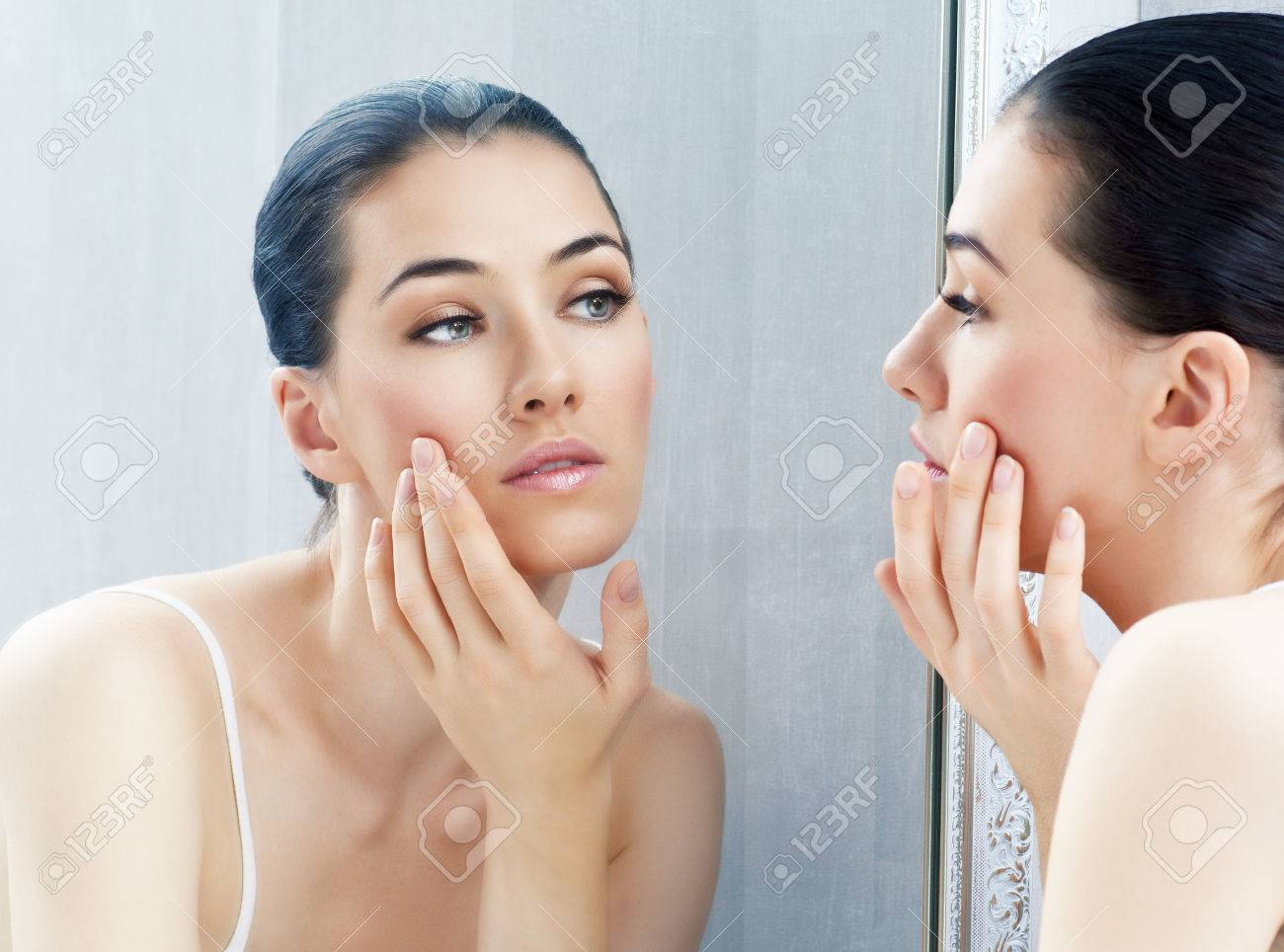 a beauty girl on the window background Stock Photo - 22935659