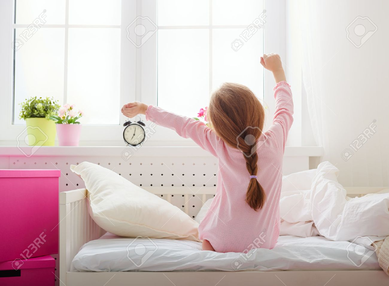 Image result for pictures of kids waking up in the morning