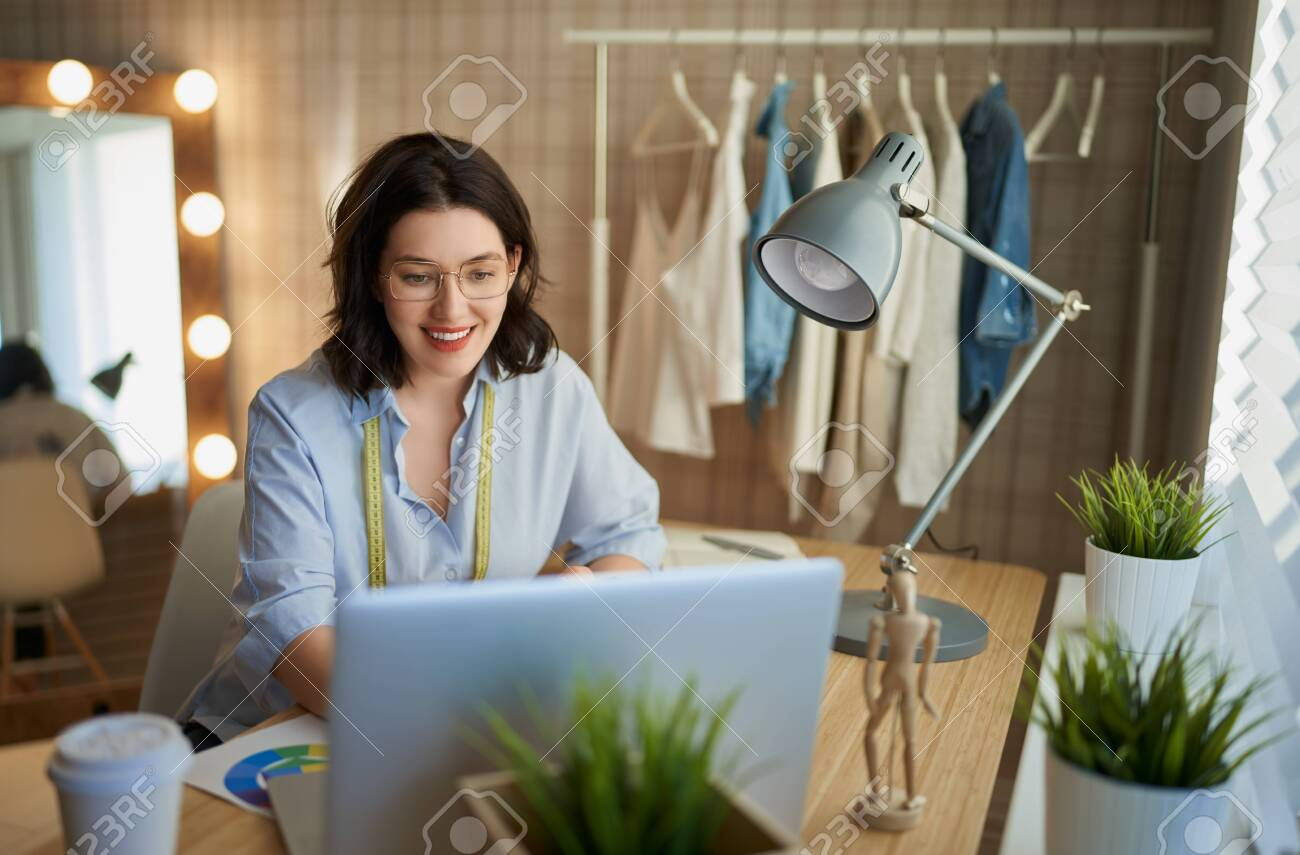 Woman is working at workshop. Concept of small business. - 135387590