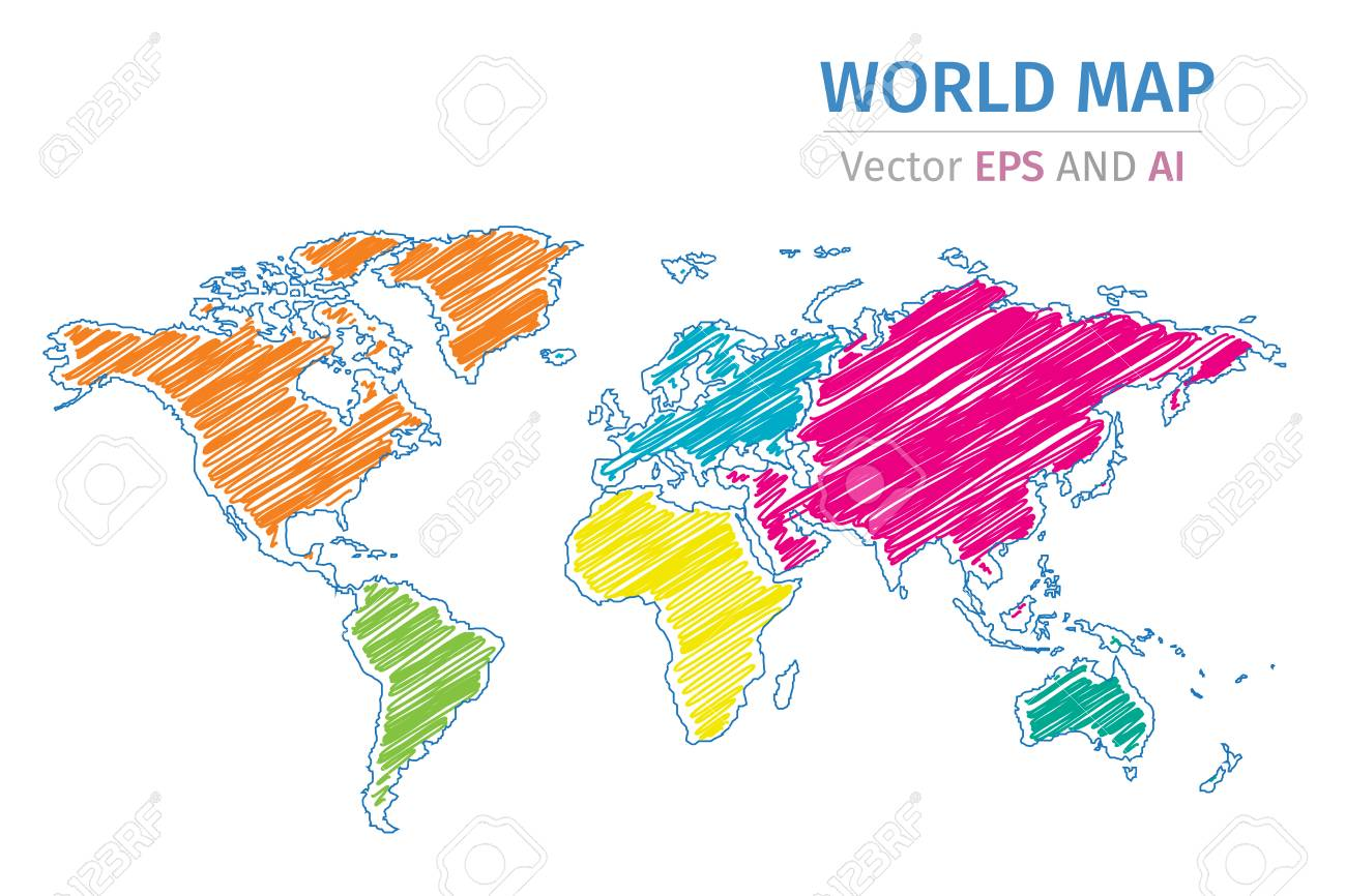Vector color world map on white background royalty free cliparts vector color world map on white background stock vector 83313972 gumiabroncs Image collections