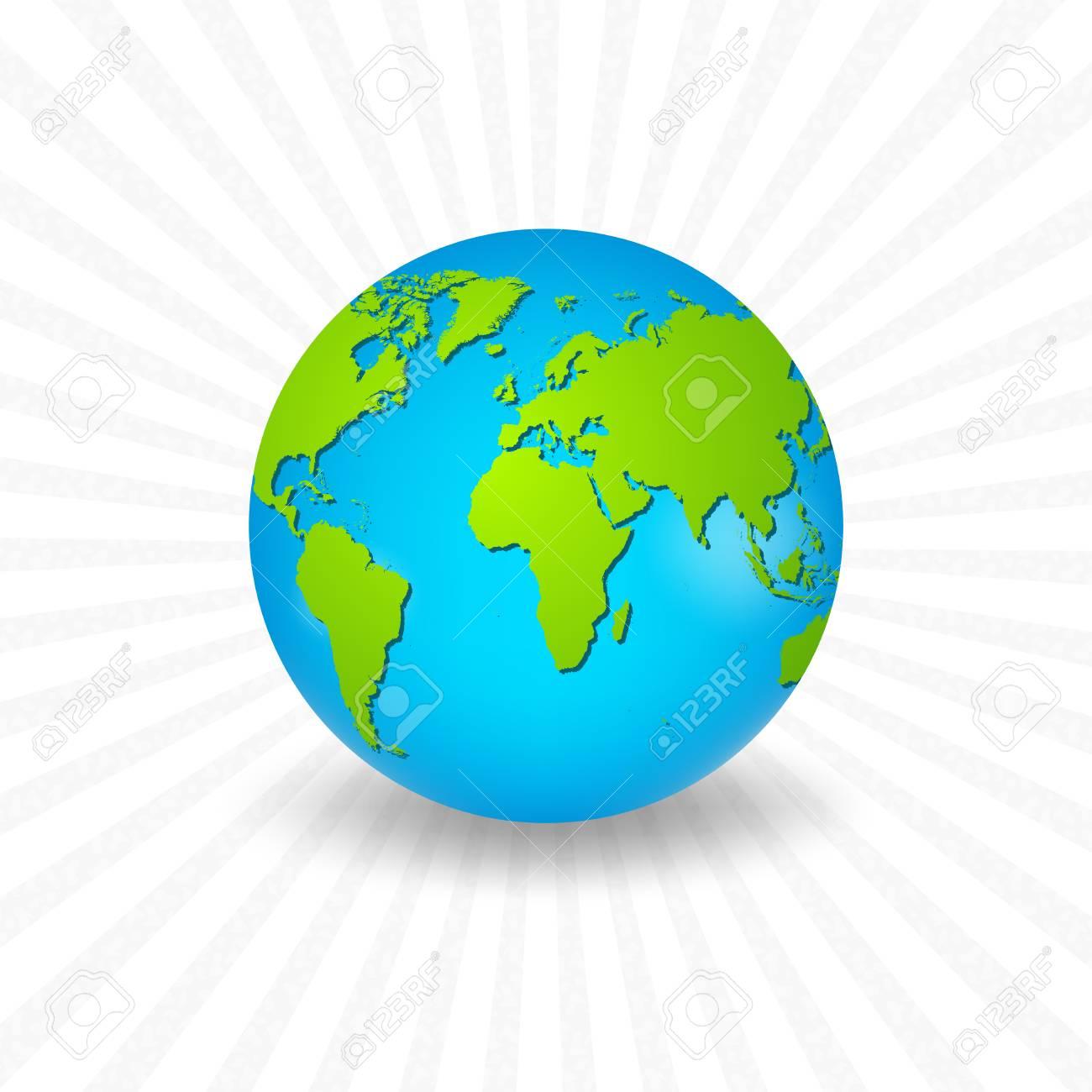 Carte Du Monde Realiste.Planete Terre Avec Une Carte Du Monde Realiste