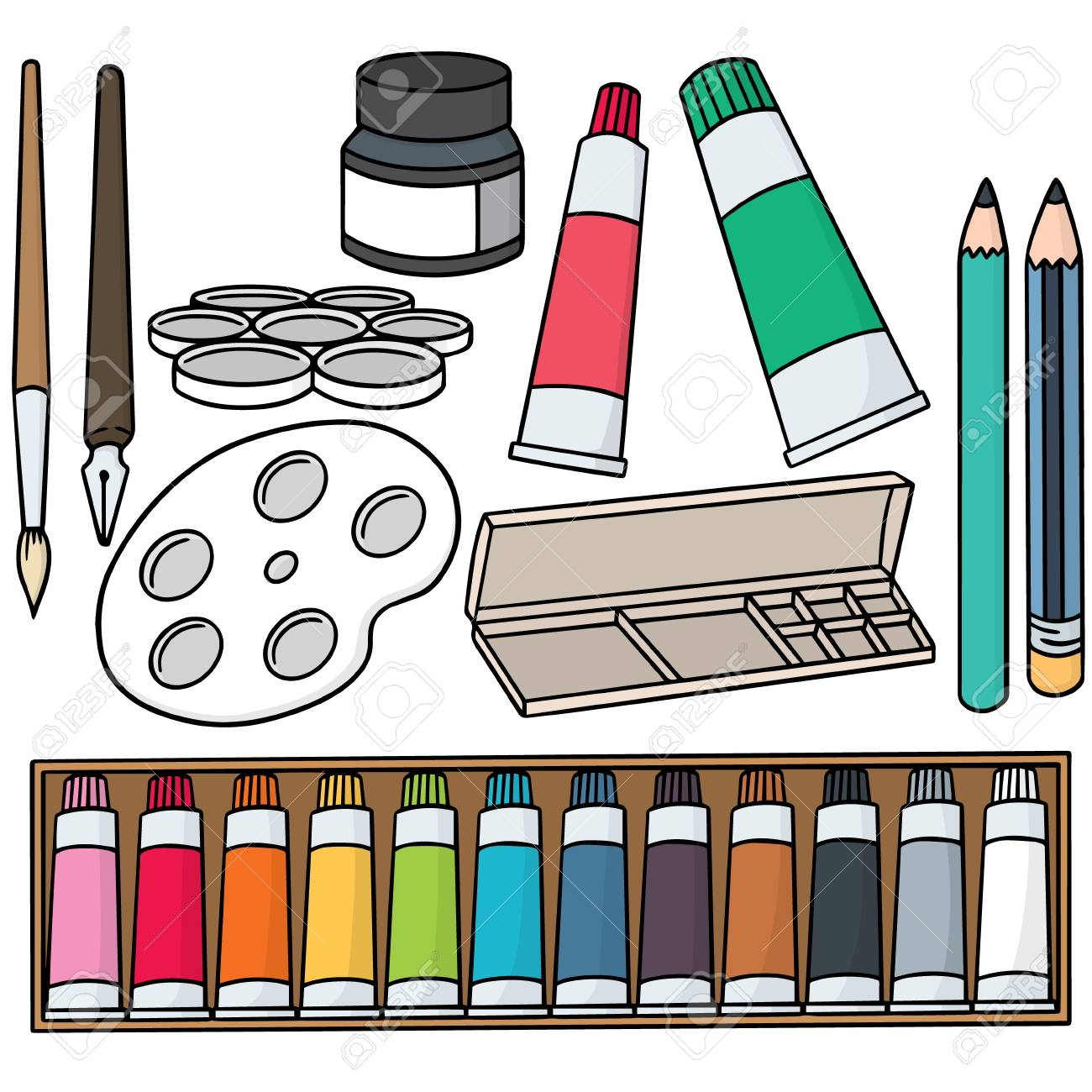 vector set of painting accessories - 60829276