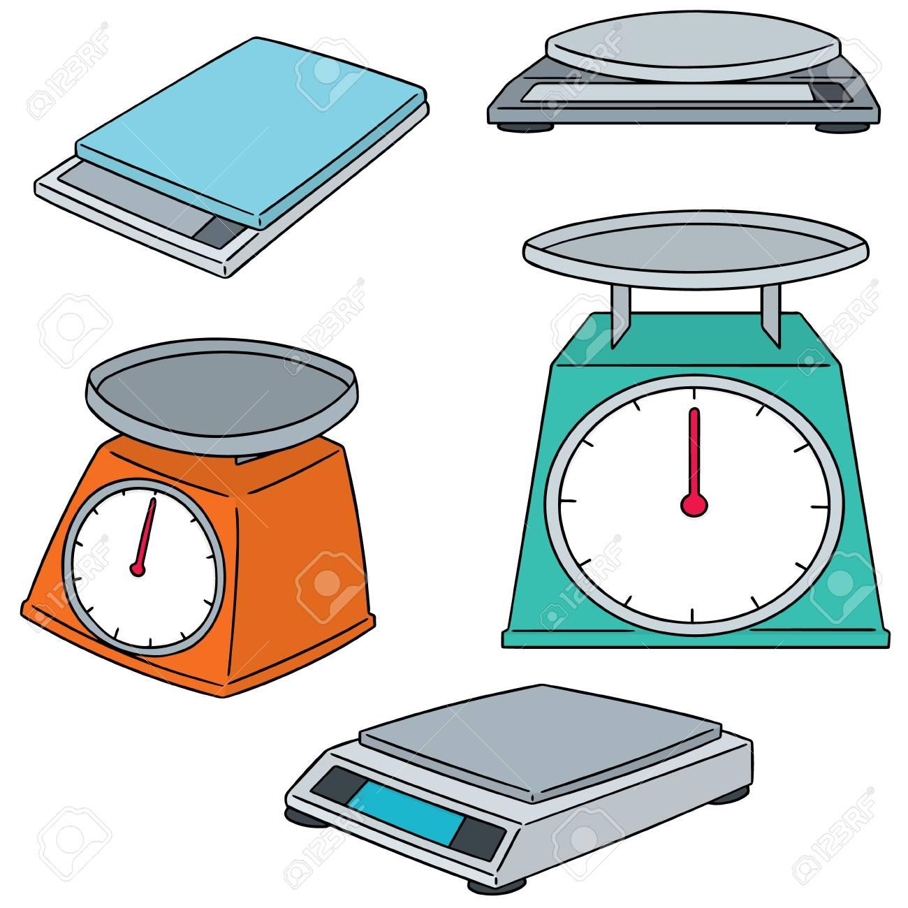 vector set of weighing machine - 87725552