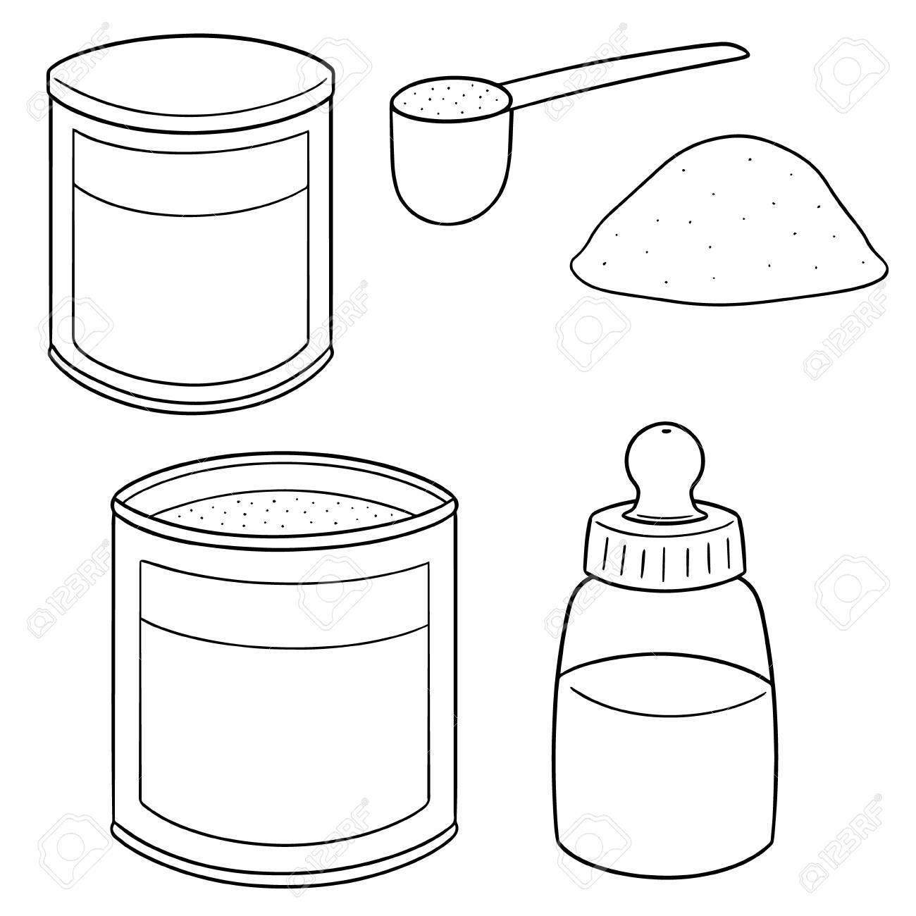 vector set of milk powder - 93416134
