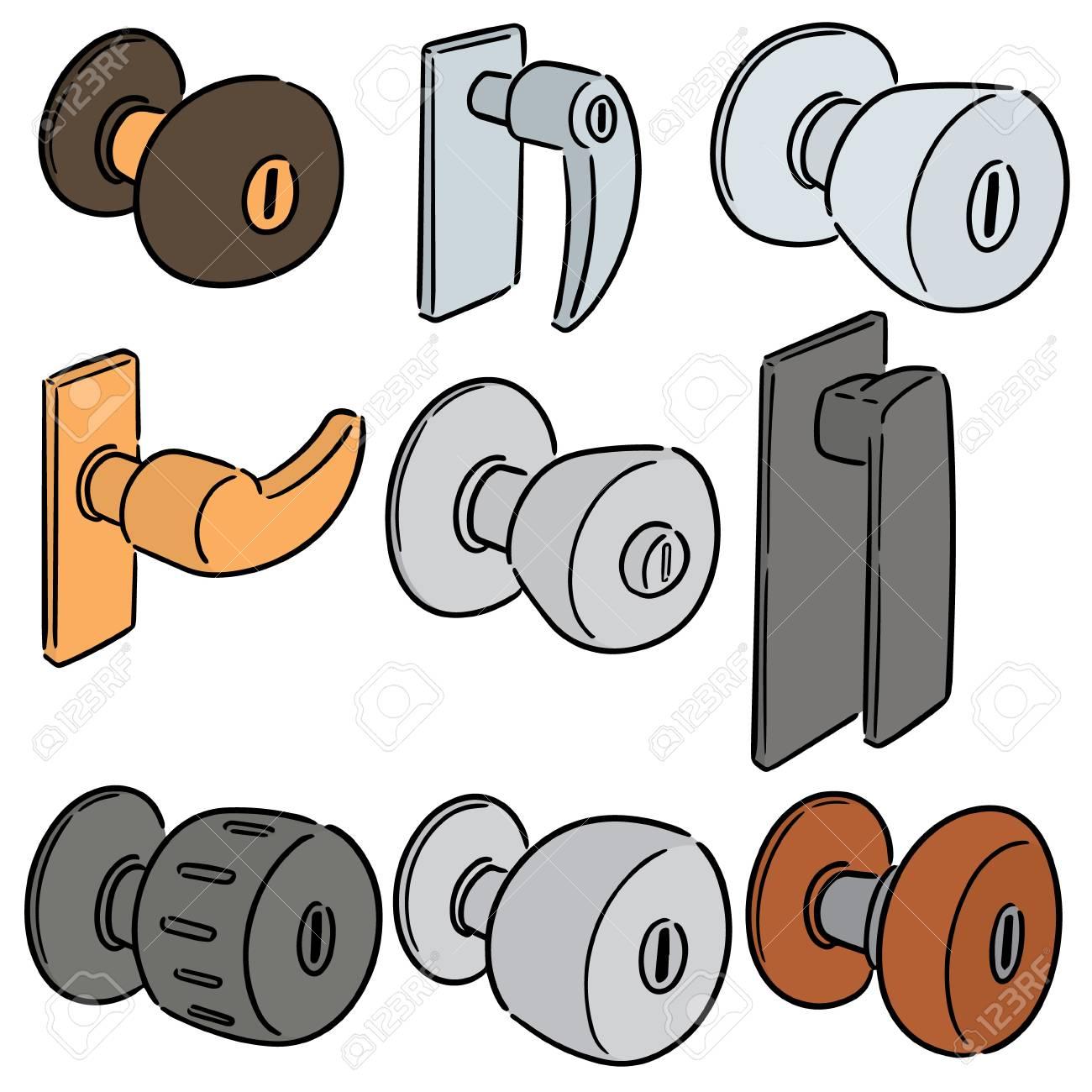 vector set of door knob - 104415312