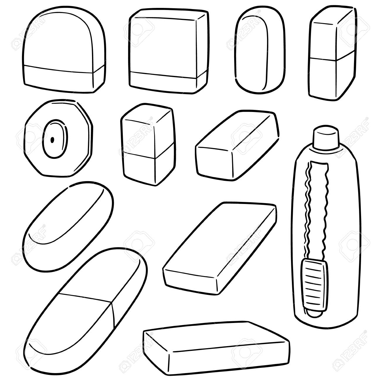 vector set of eraser royalty free cliparts vectors and stock illustration image 110069986 vector set of eraser
