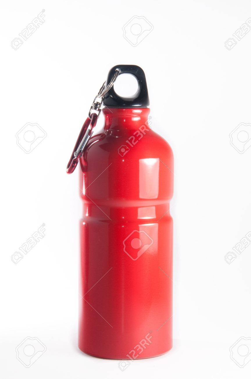 Metal sports bottle isolated over white background Stock Photo - 4172926