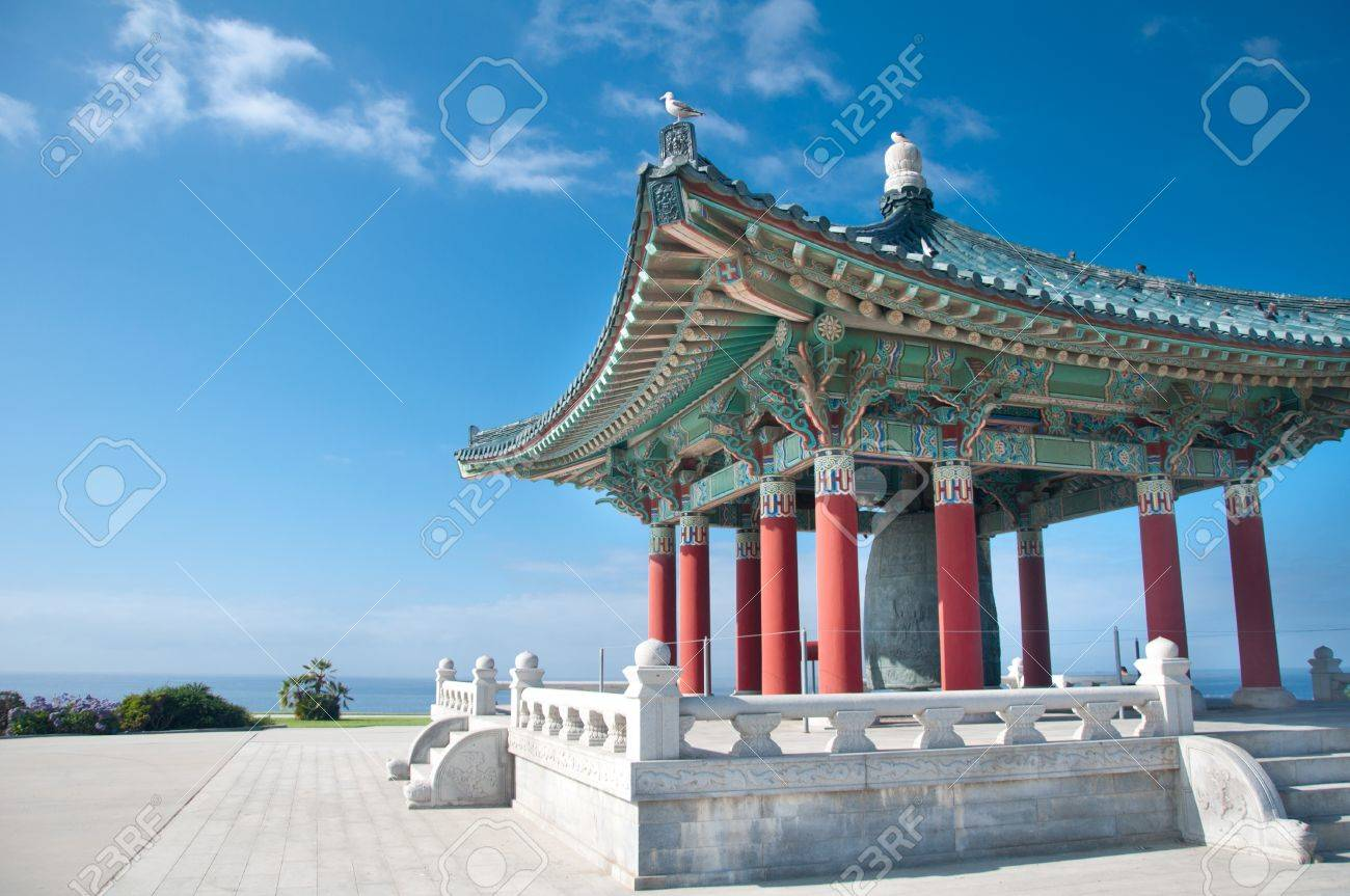 SAN PEDRO, CA - AUGUST 29, 2010: Korean Bell of Friendship in San Pedro, CA on August 29th 2010. Stock Photo - 13096519