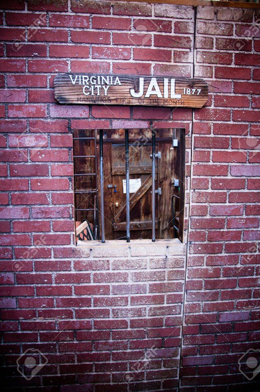 Wild american west old style jail window Stock Photo - 14832870