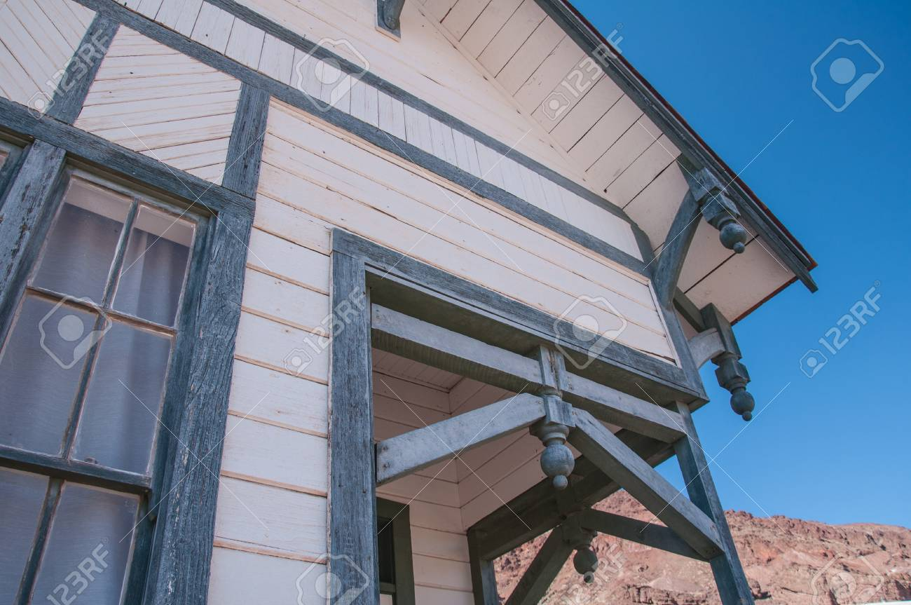 Old West Vintage Architectural Detail in a ghot town in California Stock Photo - 18211108