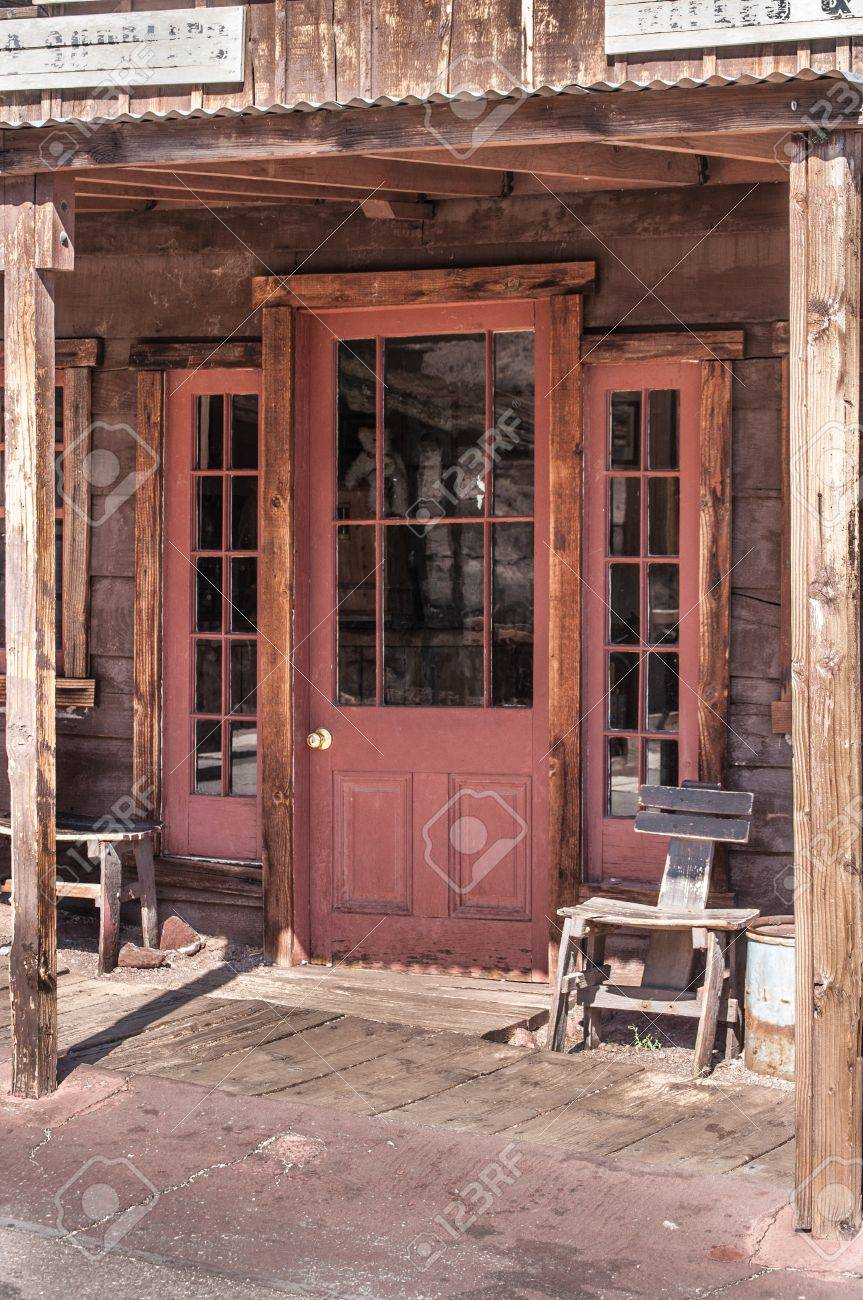 Old West Vintage Saloon Door in a ghost town in California Stock Photo - 18211162