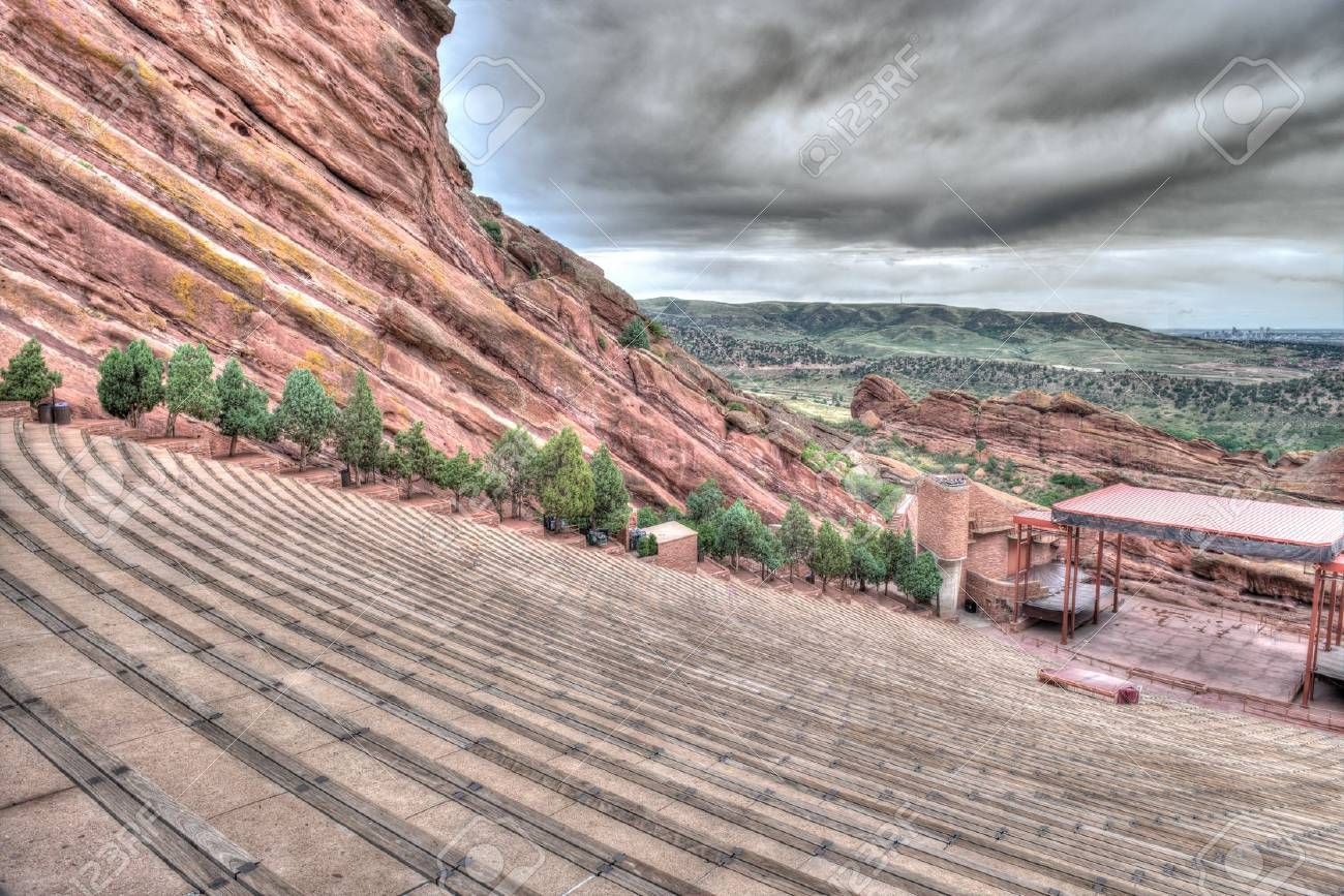 The Red Rocks Amphitheater lanscape formations  in Denver Colorado Stock Photo - 21819692