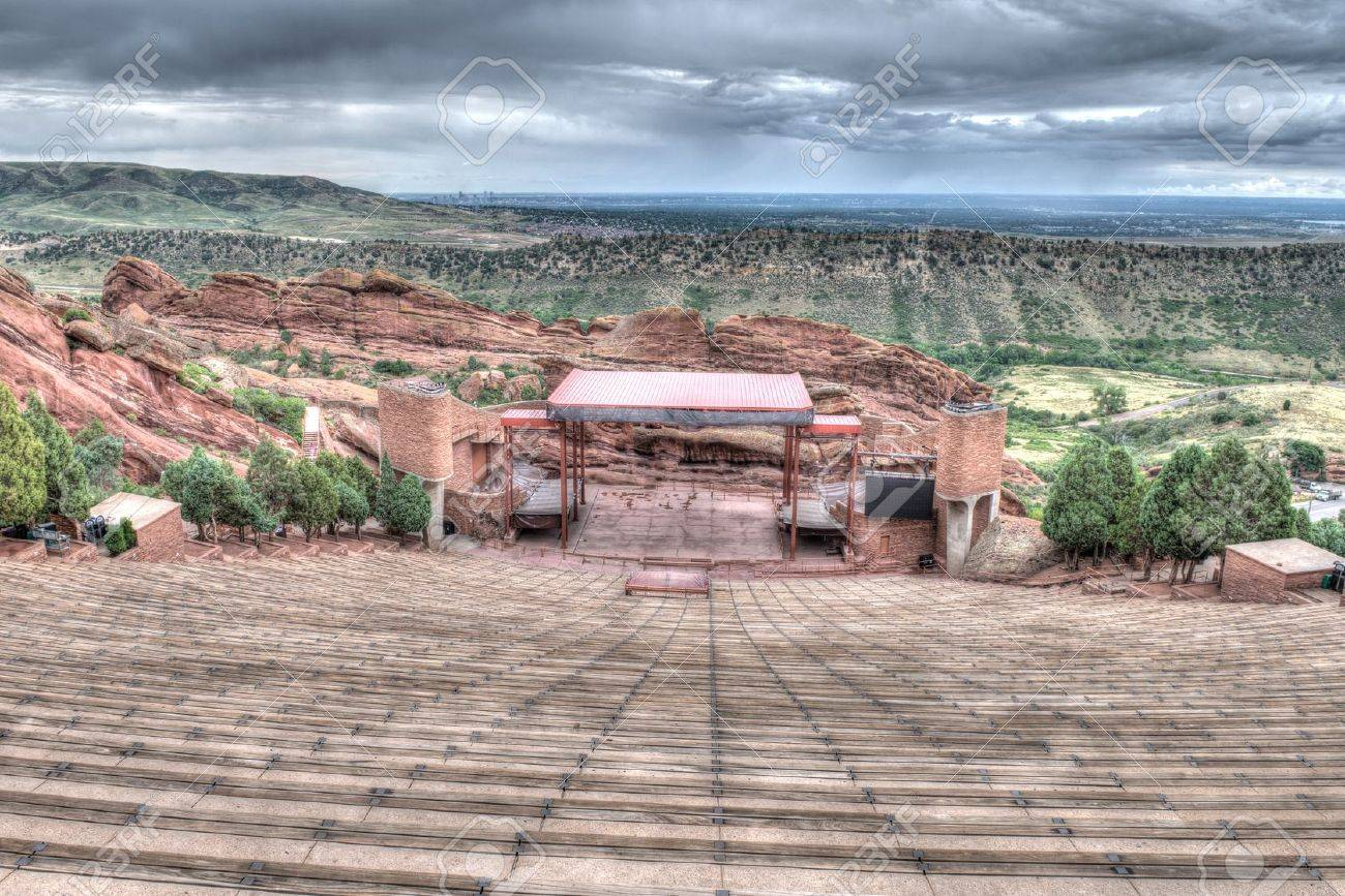 The Red Rocks Amphitheater lanscape formations  in Denver Colorado Stock Photo - 21819693