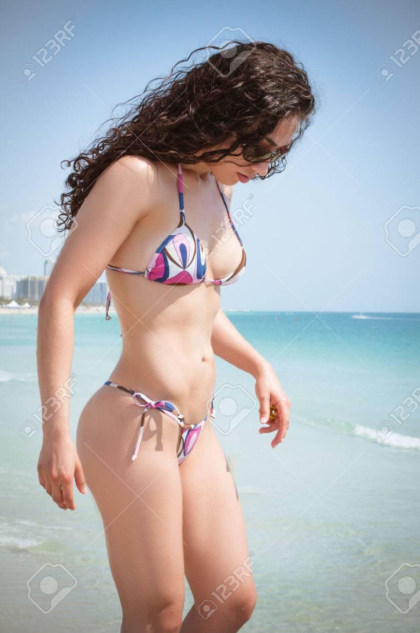Beautiful thong bikini models
