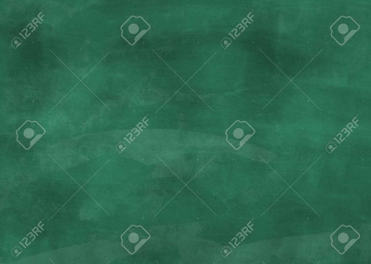 Blank Green Chalkboard Background With Chalk Dust Design Template Standard Bild