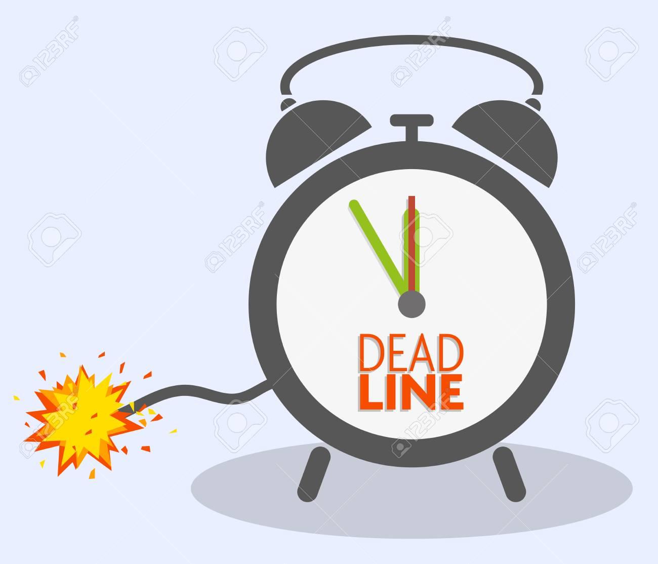 deadline concept with blasting fuse on classic alarm clock vector illustration - 122721012