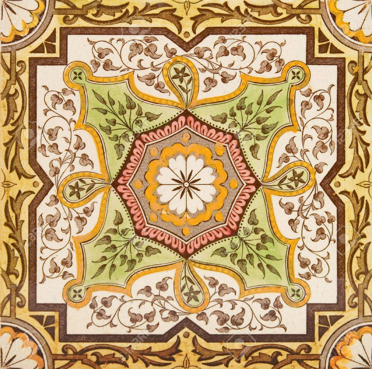 Decorative Wall Tile From The Late Victorian Period C1880 ...