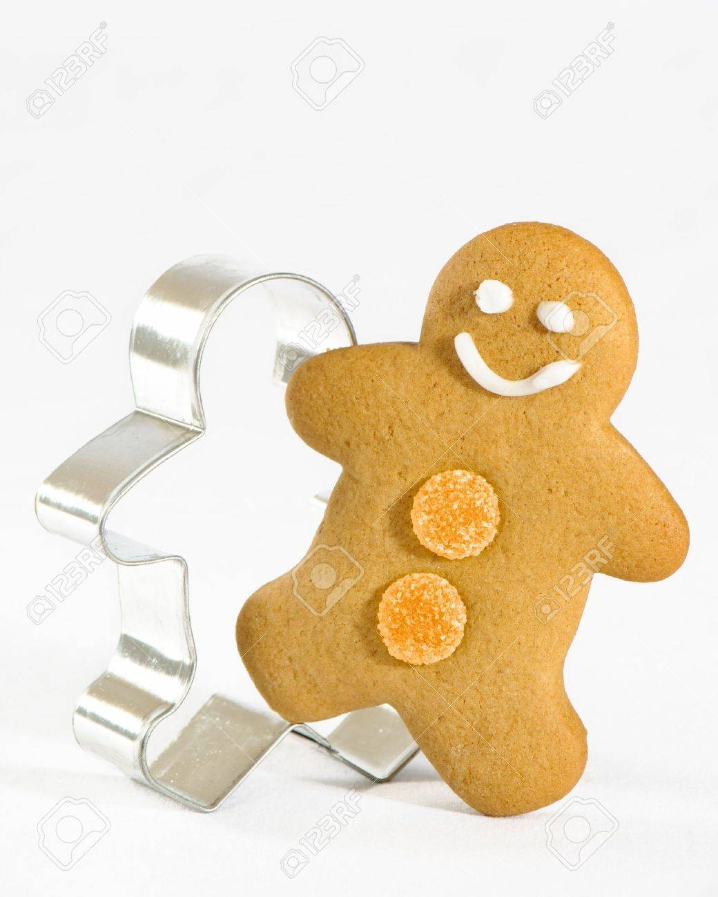 Gingerbread man stepping out of the mould Stock Photo - 4604207