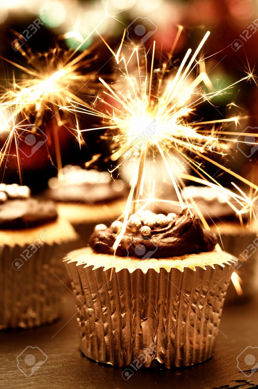 Fireworks Birthday Cakes Stock Photos Royalty Free Fireworks