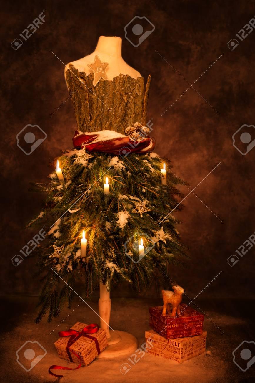Vintage Bilder Weihnachten.Stock Photo