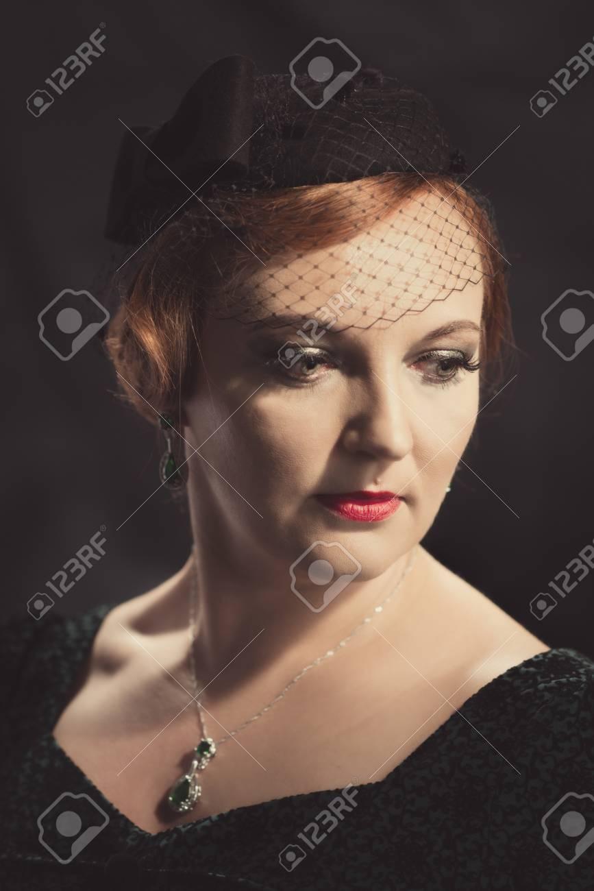 super pas cher se compare à comment commander Quantité limitée Les années 20, style, portrait, glamour, femme, Porter, piliers, caisse,  chapeau