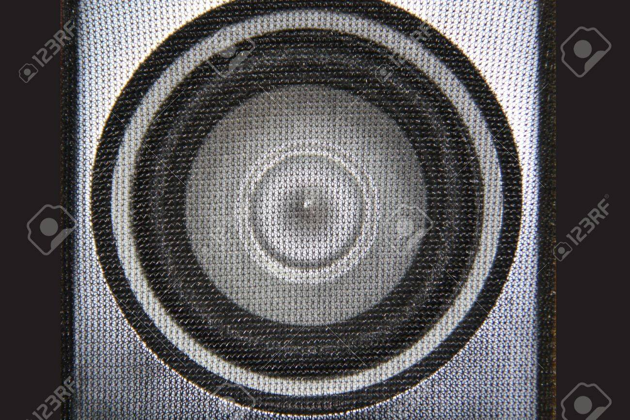 Close up of speaker, showing cone and mesh covering Stock Photo - 4426456