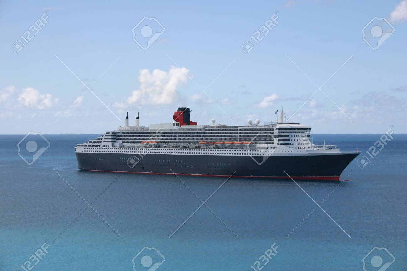 Cruise Ship in the Caribbean Stock Photo - 3101648