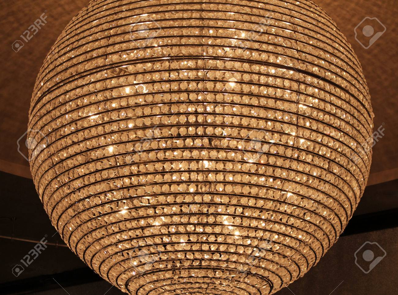 Closeup of a crystal sphere chandelier stock photo picture and closeup of a crystal sphere chandelier stock photo 40887706 aloadofball Image collections