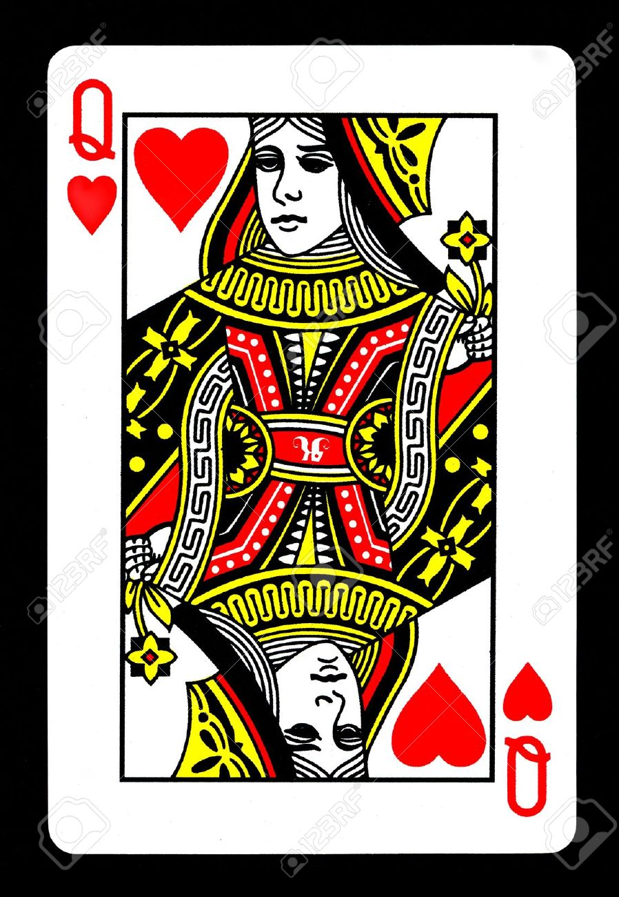 The Queen Of Hearts Playing Card Stock Photo Picture And Royalty
