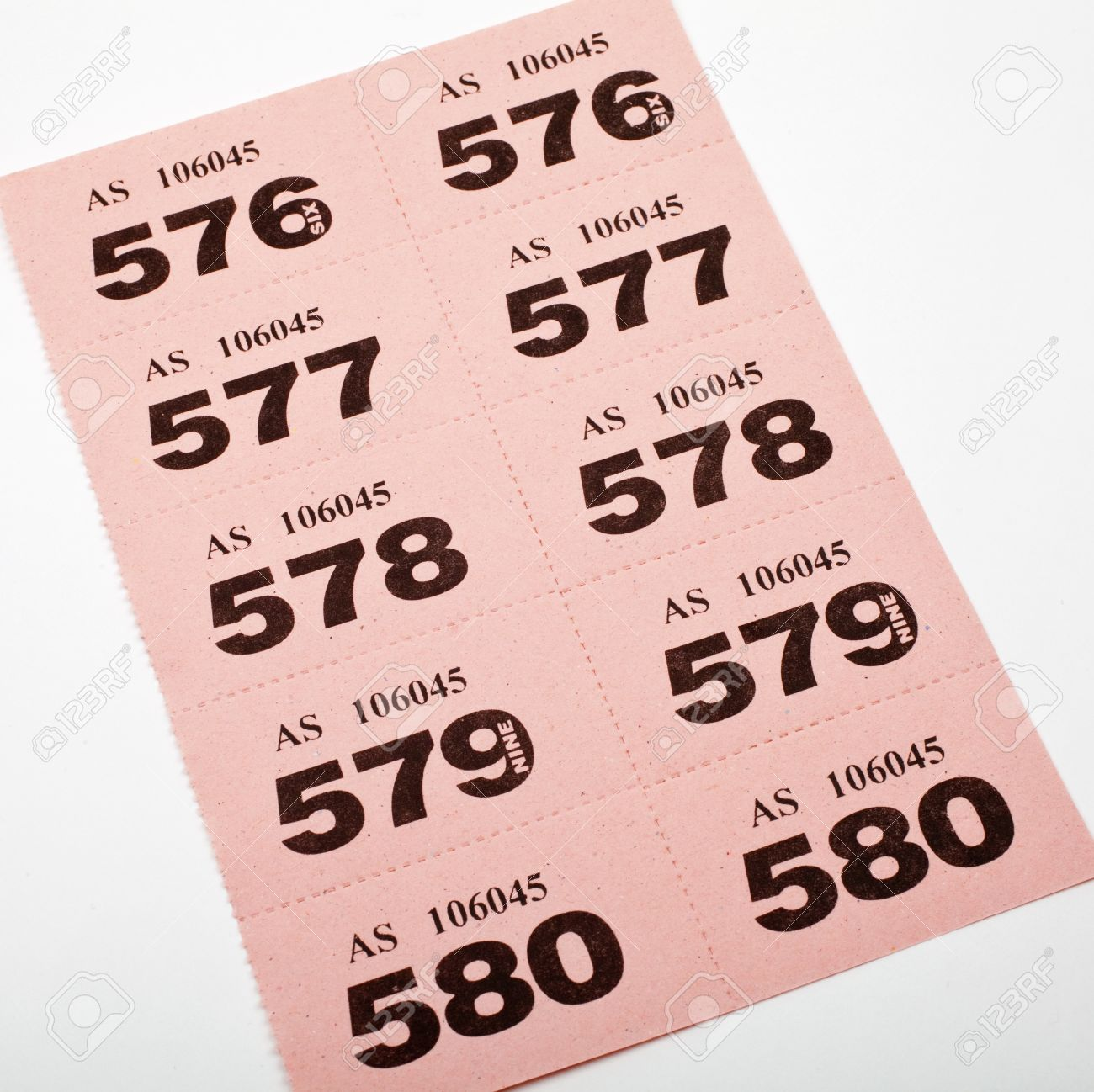 a page of raffle tickets stock photo picture and royalty a page of raffle tickets stock photo 15168998