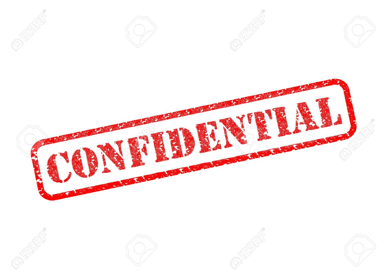 CONFIDENTIAL Rubber Stamp Stock Photo Picture And Royalty Free