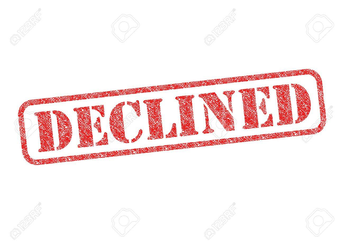 DECLINED red rubber stamp over a white background. Stock Photo - 17675886