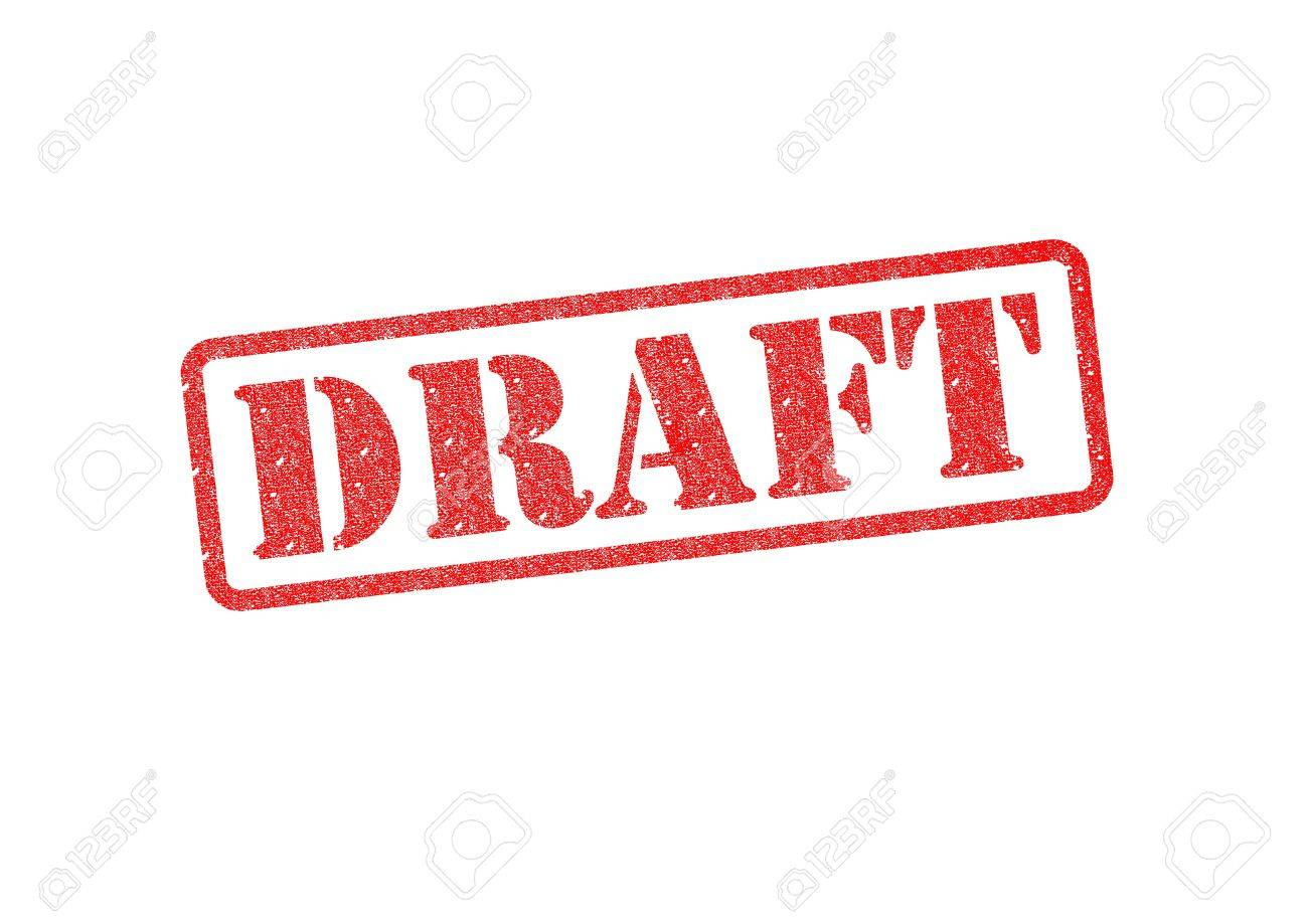DRAFT red rubber stamp over a white background. Stock Photo - 17675879