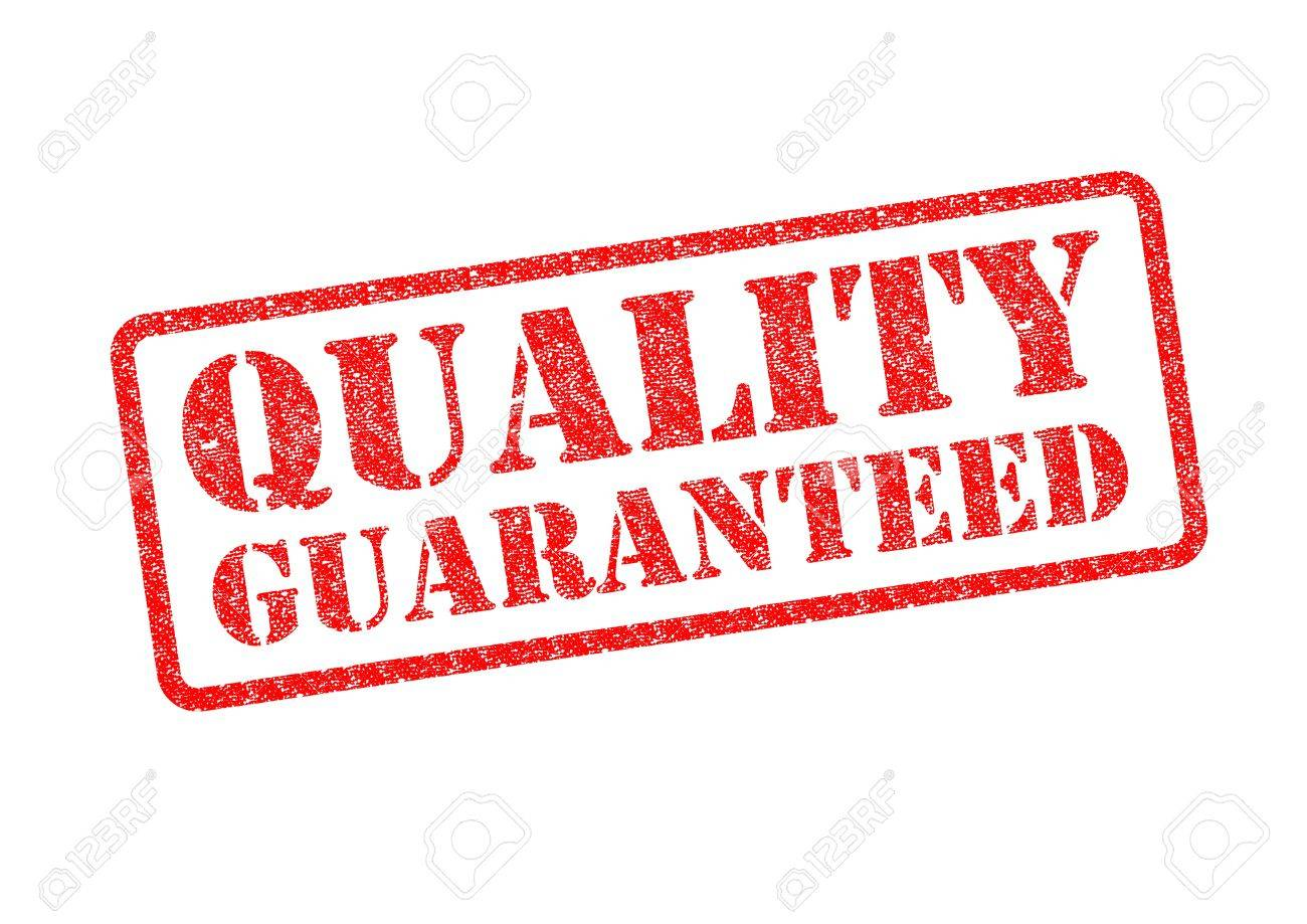 QUALITY GUARANTEED red rubber stamp over a white background. Stock Photo - 17675894