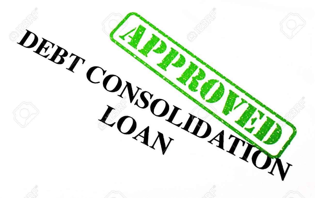 Close-up of an Approved Debt Consolidation Loan letter. Stock Photo - 17675910