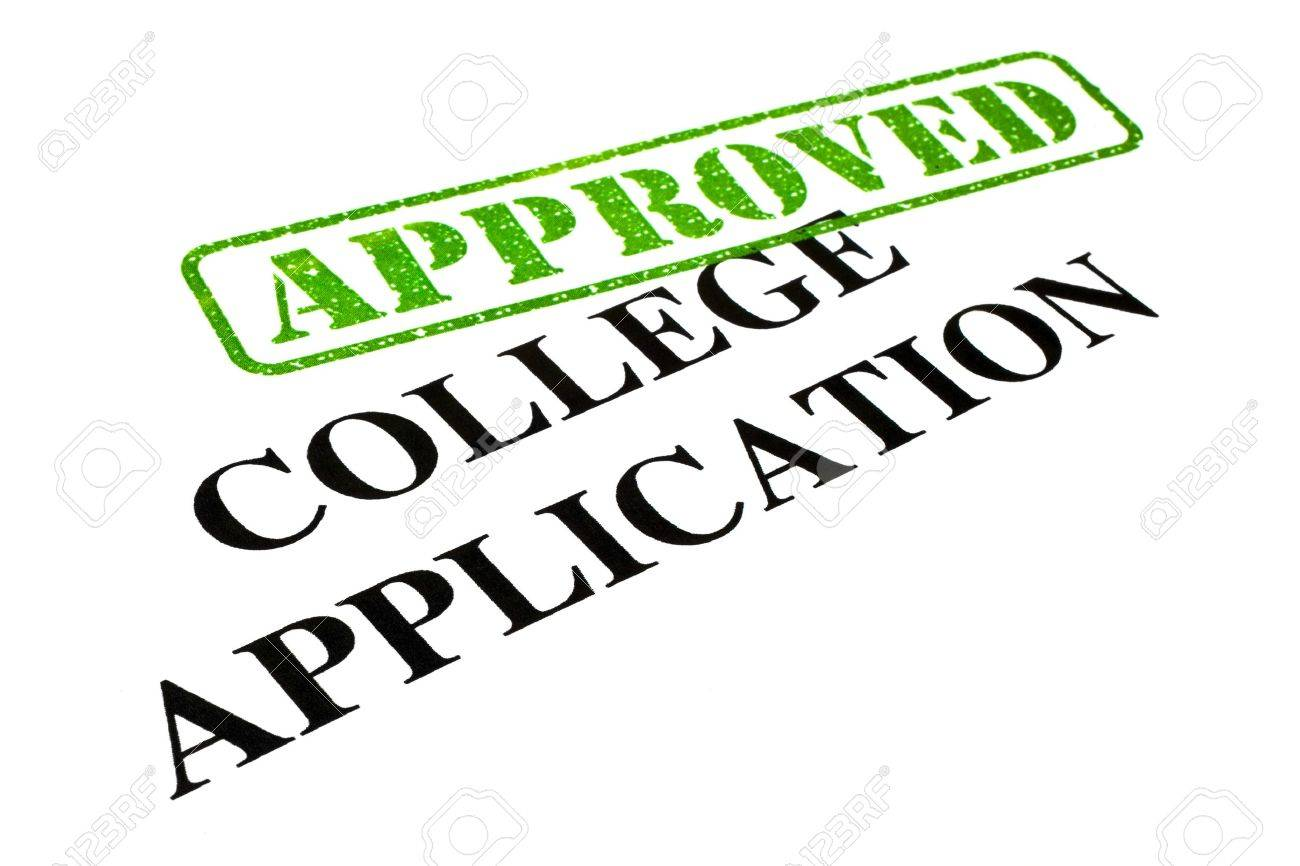 Closeup Of An Approved College Application Letter Photo – College Application Letter