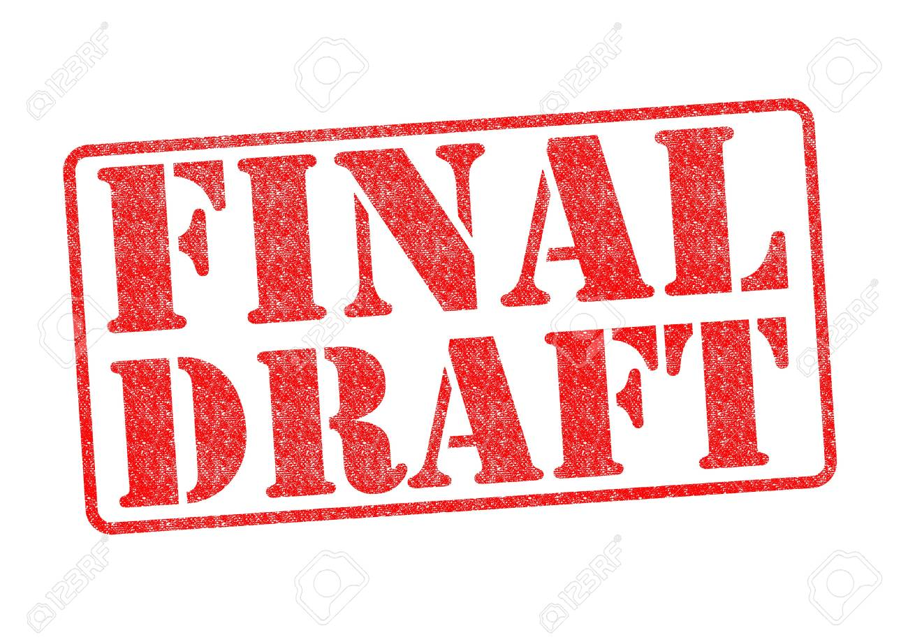 FINAL DRAFT red rubber stamp over a white background. Stock Photo - 17861865
