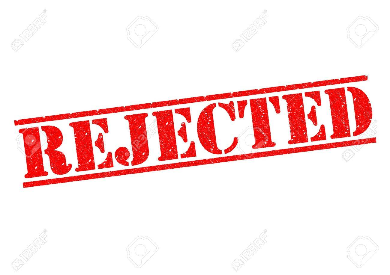 REJECTED red rubber stamp over a white background. Stock Photo - 17861855