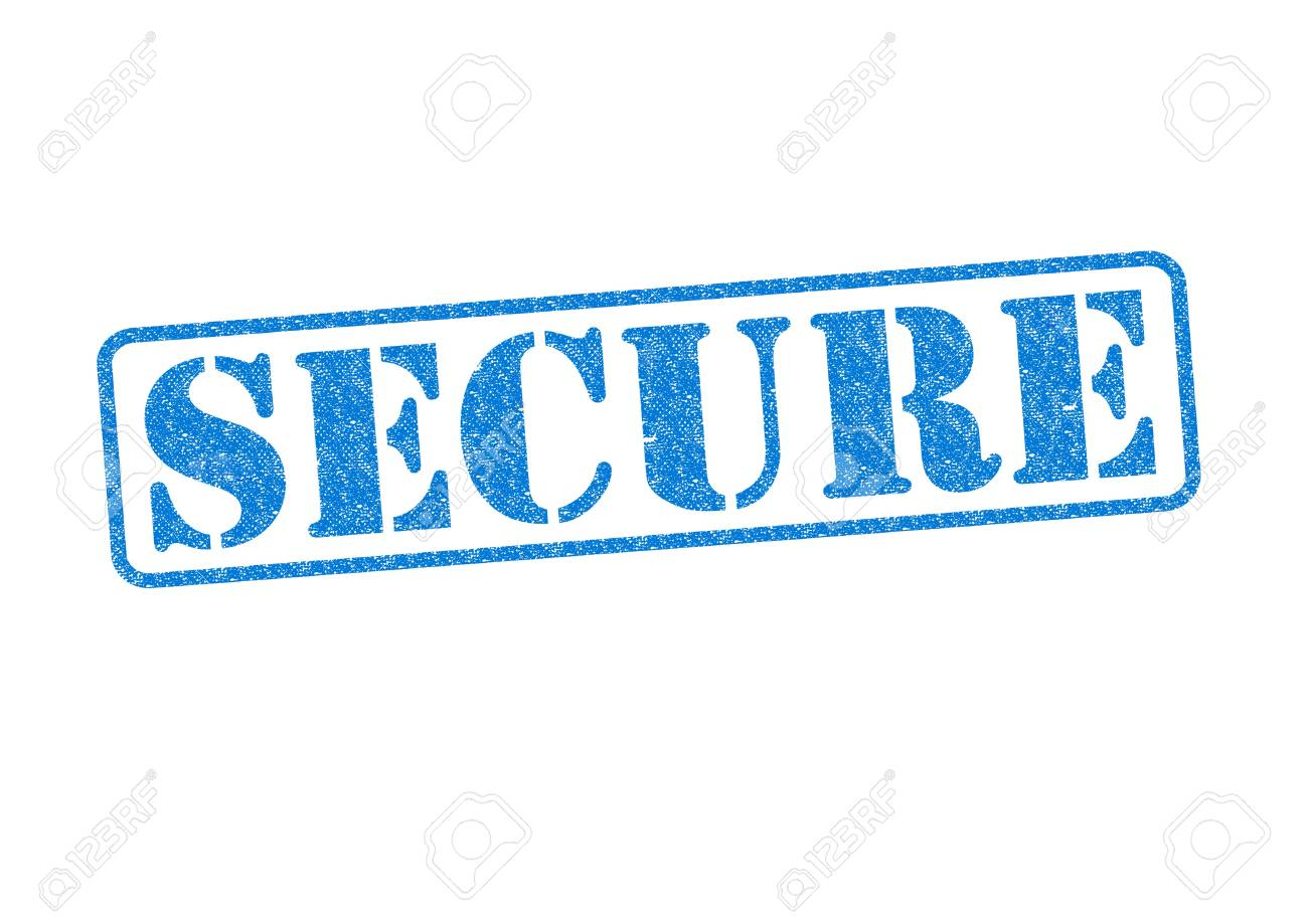 SECURE blue rubber stamp over a white background. Stock Photo - 17861870