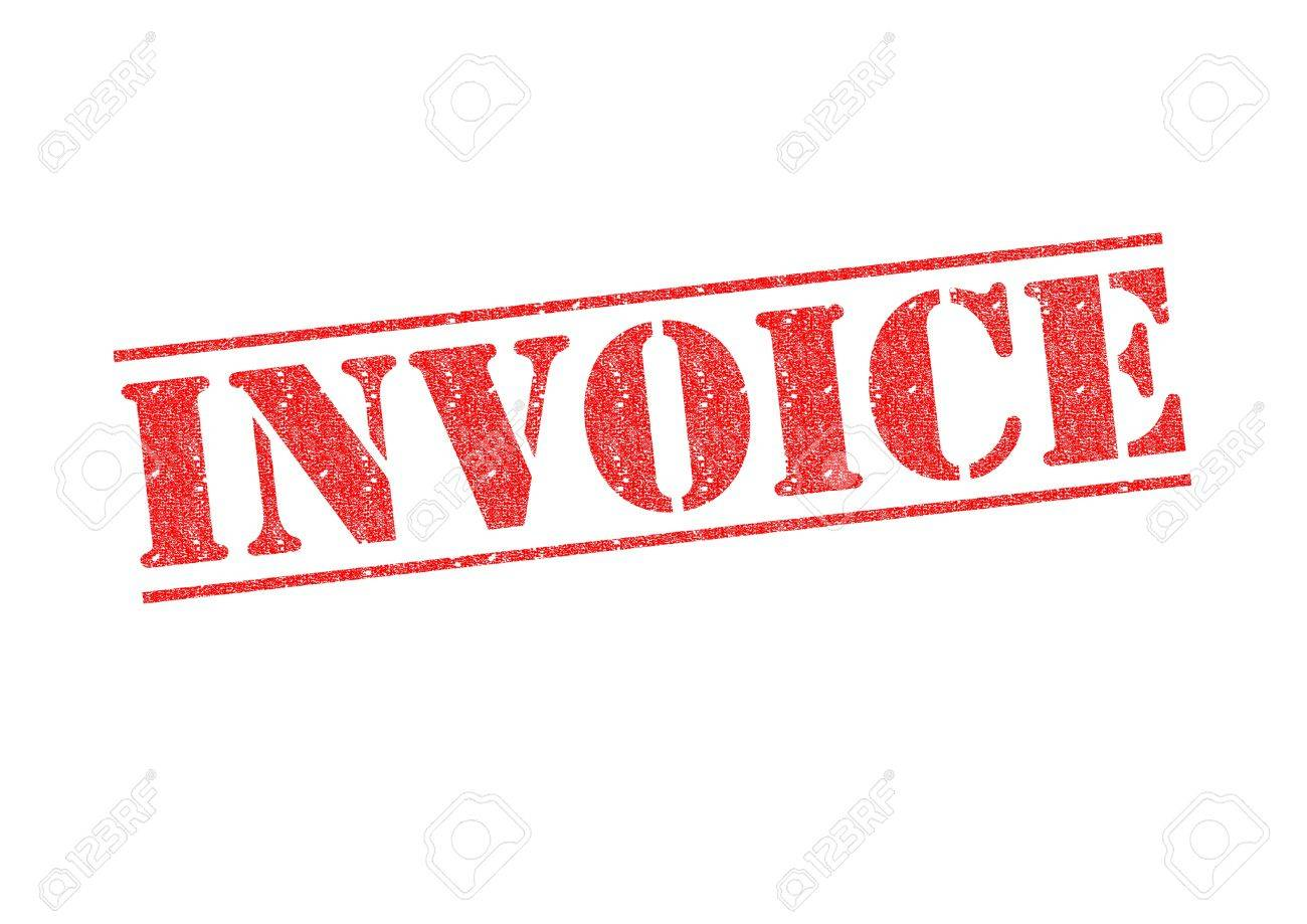 INVOICE Rubber Stamp Over A White Background Stock Photo Picture - Invoice stamp