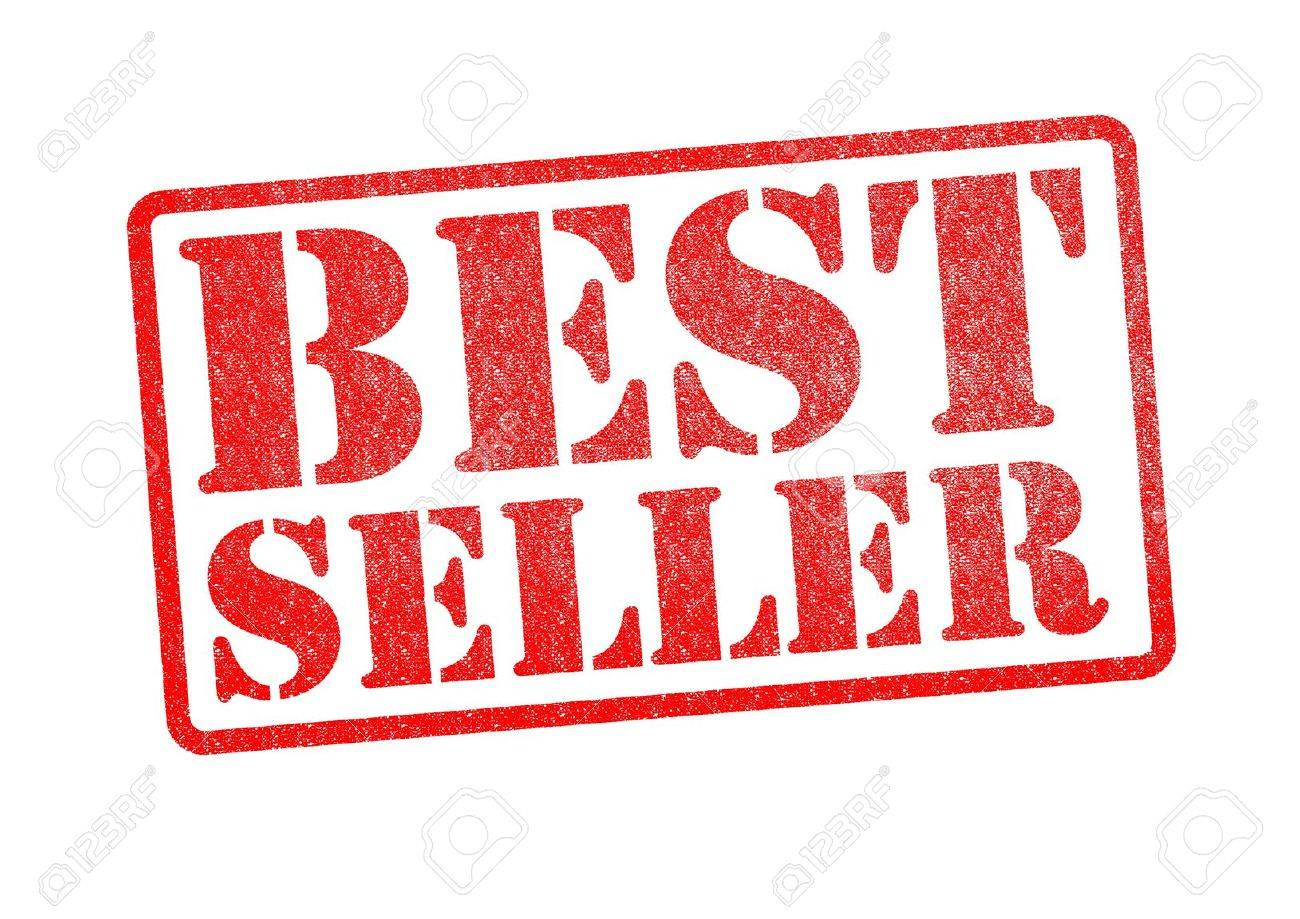 BEST SELLER red rubber stamp over a white background. Stock Photo - 18516257
