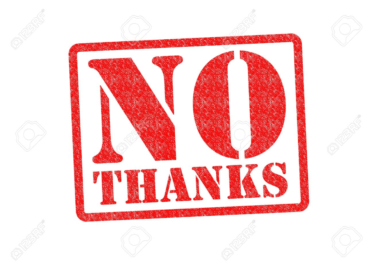 NO THANKS Rubber Stamp over a white background. Stock Photo - 20363772