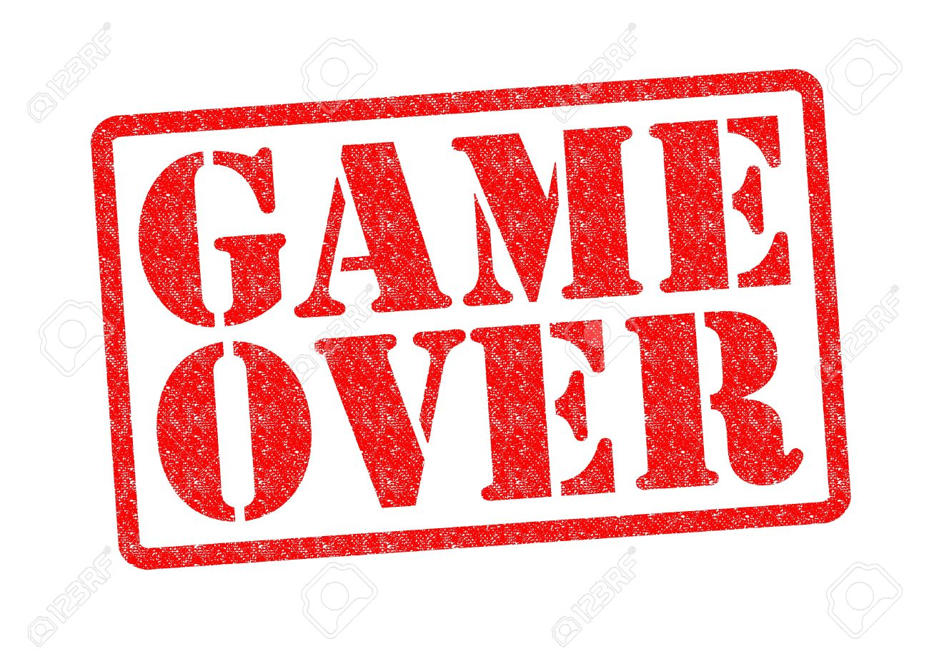 game over rubber stamp over a white background stock photo picture