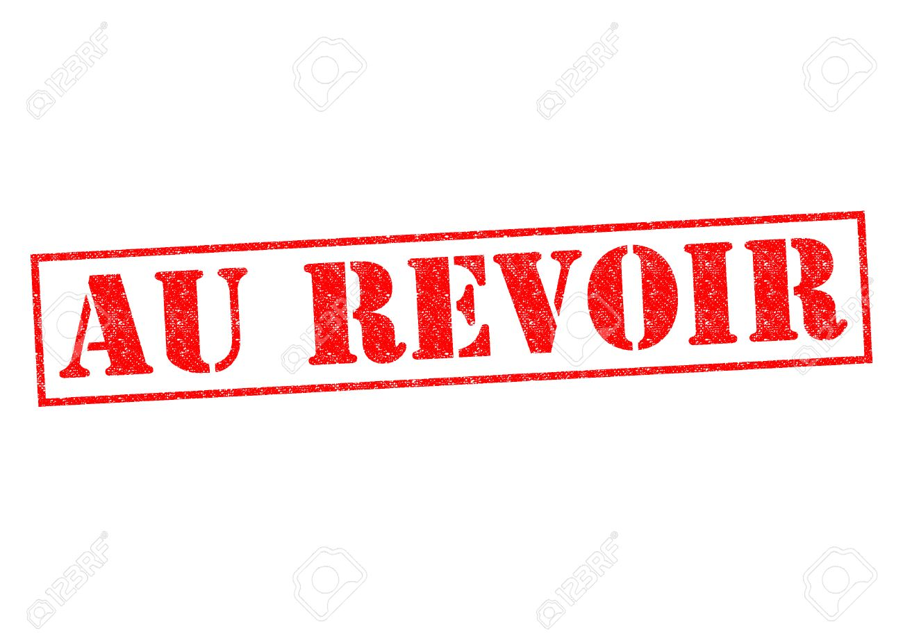 au revoir rubber stamp over a white background stock photo picture