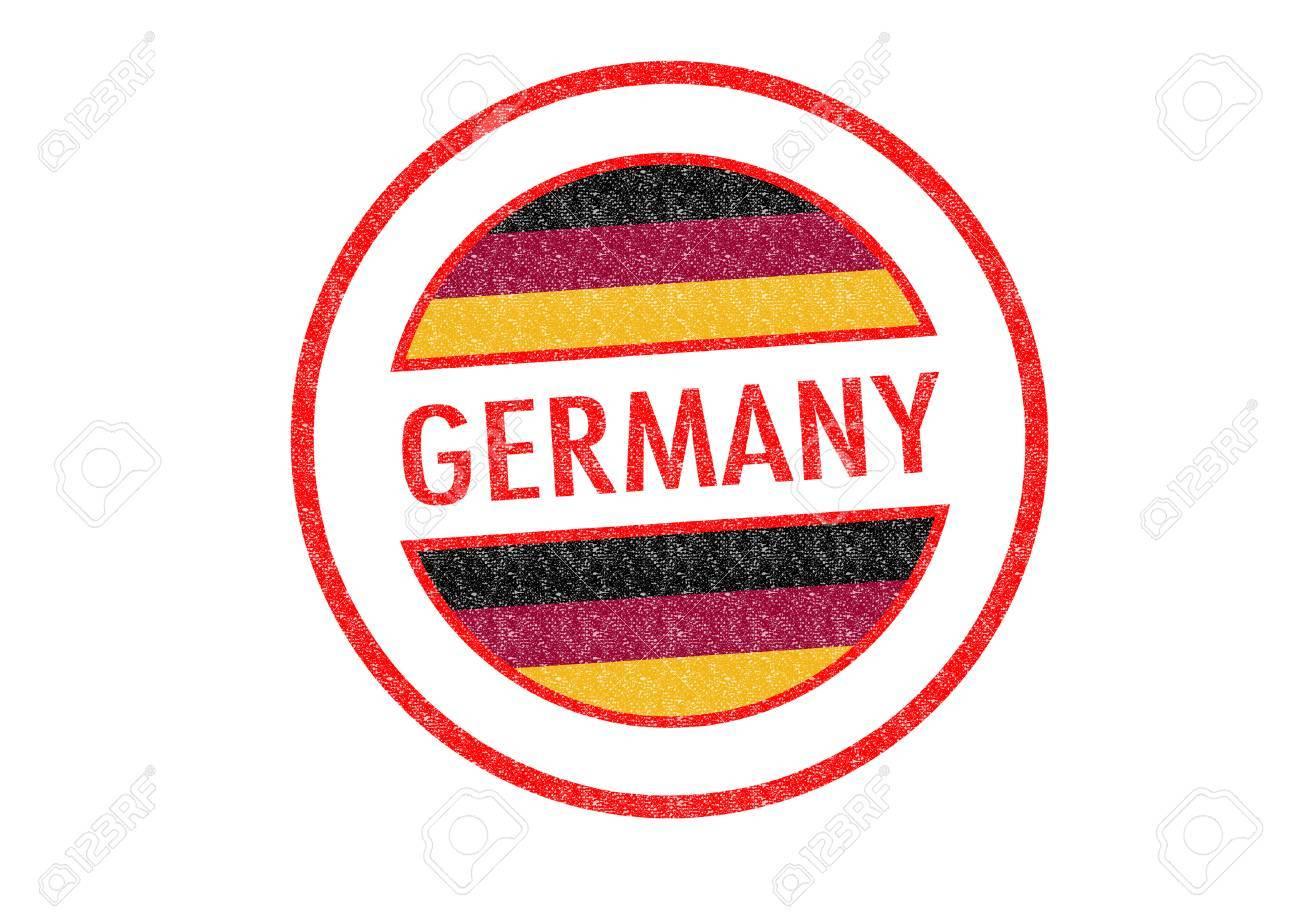 Tipo Pasaporte Alemania Sello De Goma Sobre Un Fondo Blanco Fotos