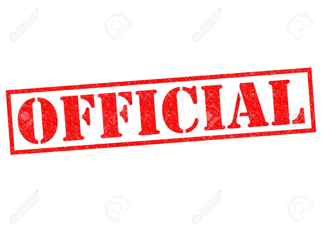 official red rubber stamp over a white background stock photo