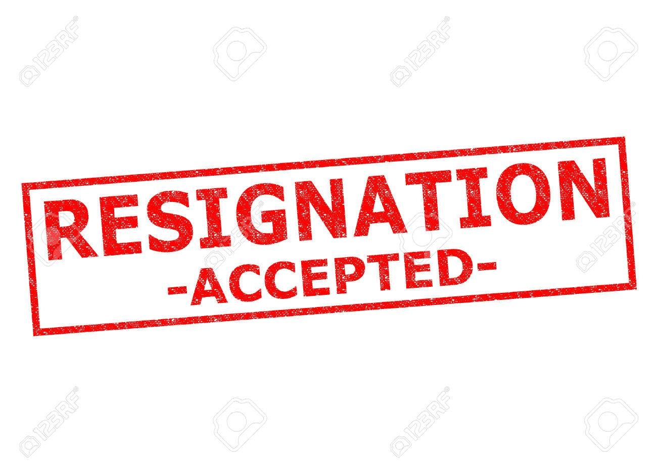 resignation accepted red rubber stamp over a white background resignation accepted red rubber stamp over a white background stock photo 30426155